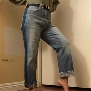 THRIFTED high waisted straight jeans